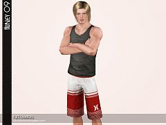 Sims 3 shorts, bottom, denim