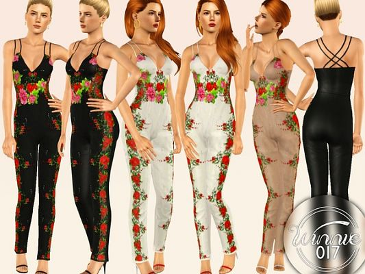 Sims 3 jumpsuit, outfit