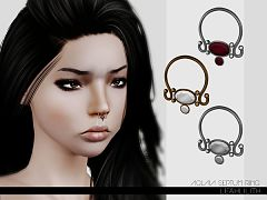 Sims 3 septum ring, ring, accessory