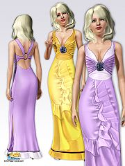 Sims 3 clothing, dress, formal, sims3, fashion