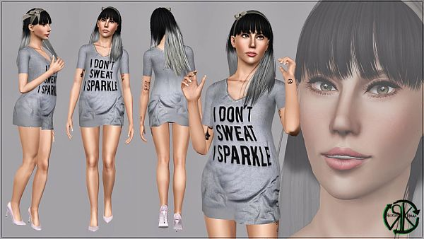 Sims 3 outfit, tee, t-shirt, shoes