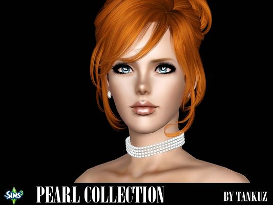 Sims 3 choker, necklace, pearl