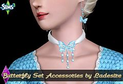 Sims 3 accessory, earrings, necklace