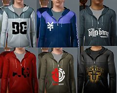 Sims 3 clothing, fashion, t shirt, male, hoodie