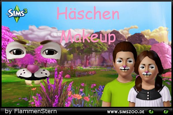 Sims 3 makeup, mask, rabbit