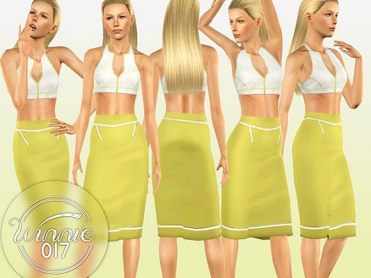 Sims 3 outfit, skirt, top