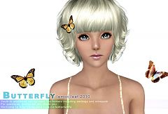 Sims 3 butterfly, hair, decor, accessory