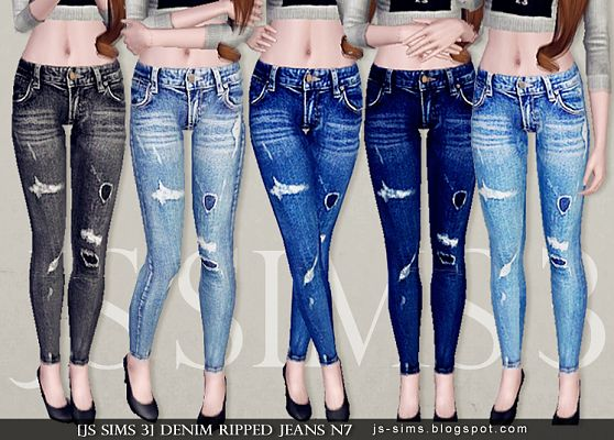 Sims 3 jeans, denim, pants