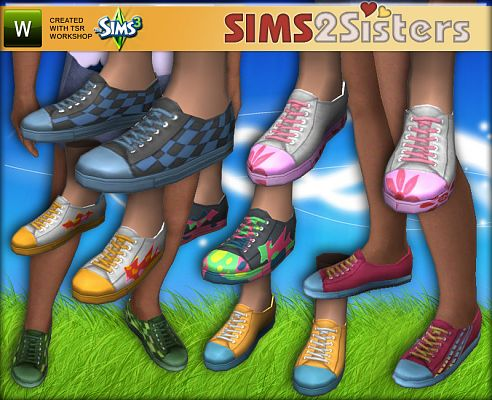 Sims 3 shoes, sneakers