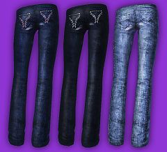 Sims 3 clothing, fashion, jeans, female, hollister