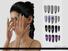 Sims 3 nails, accessory
