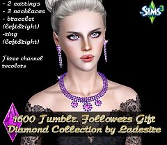 Sims 3 accessory, earrings, necklace, bracelet, ring