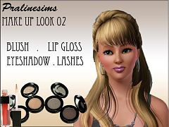 Sims 3 makeup, set, blush, lipgloss, eyeshadow