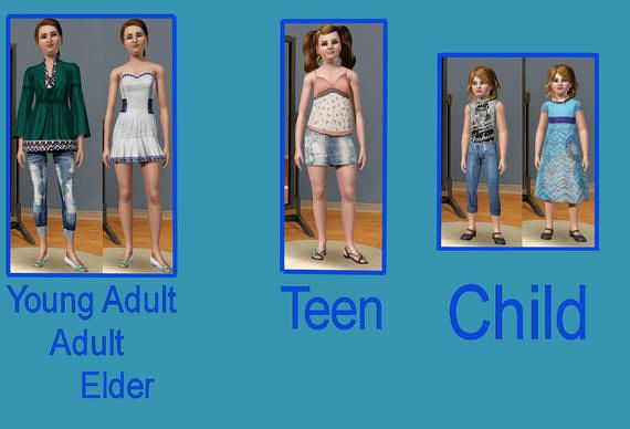 Sims 3 cloth, clothes, fashion, outfits, females