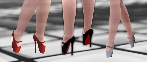 Sims 3 shoes, footwear, females
