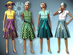 Sims 3 outfits, elder, female