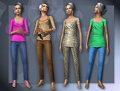 Sims 3 cloth, clothes, fashion, outfits, females, elders