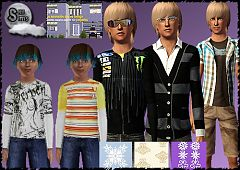 Sims 3 clothing, everyday, male, teen, child