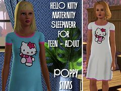 Sims 3 maternity, sleepwear, clothing, female