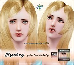 Sims 3 eyes, eyeshadow, eyebag, makeup