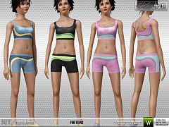 Sims 3 cloth, clothes, athletic, sport, set