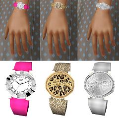 Sims 3 jewelry, watch, guess