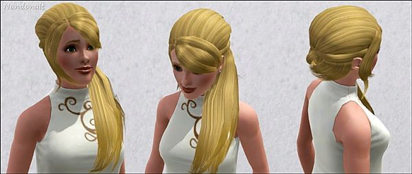 Sims 3 hair, hairstyle, side, long, modern