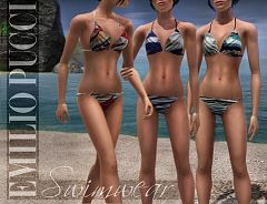 Sims 3 fashion,swimwear, female, designer