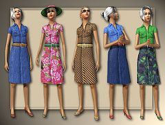 Sims 3 outfit, dress, clothing, elder, female