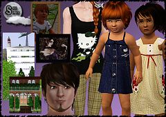 Sims 3 clothing, toddler, child, dress