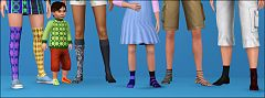 Sims 3 socks, accessories