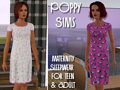 Sims 3 maternity, sleepwear, clothing