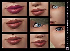 Sims 3 makeup, costume, beauty marks
