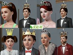 Sims 3 hat, accesorries, crown