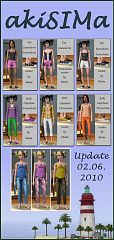 Sims 3 cloth, clothes, bottom, top, females, teen, recolors