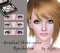 Sims 3 eyeshadow, eyes, color, makeup
