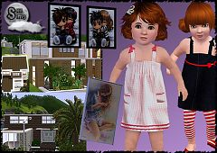 Sims 3 clothing, paintings, residential, lot