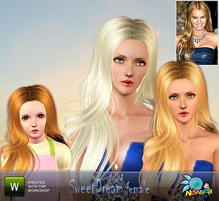 Sims 3 hair, genetics, female, hairstyle