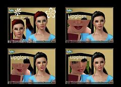 Sims 3 makeup, eyeshadow, costume makeup, lips