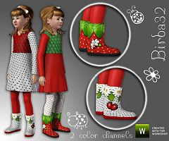 Sims 3 children, boots, shoes