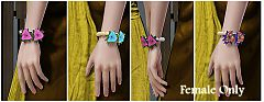 Sims 3 jewelry, bracelet, flower, male, men, women