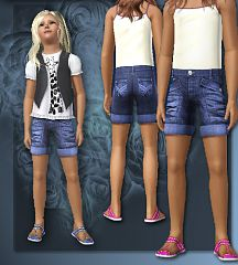 Sims 3 cloth, clothes, short, fashion, girls