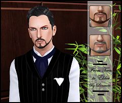 Sims 3 beard, facial, hair, males