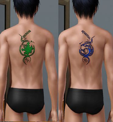Sims 3 tattoos, tattoo, zodiac