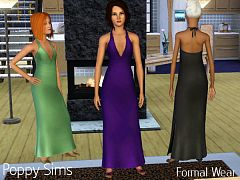 Sims 3 formal, fashion, dress