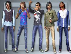 Sims 3 outfits, male, clothing, jeans, shirt