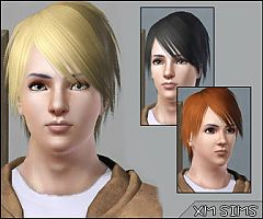 Sims 3 hair, short, hairstyle