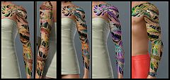 Sims 3 tatoos, chinese, tatoo