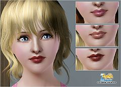 Sims 3 makeup, lips, lipstick, cosmetics