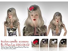 Sims 3 camellia, accessory, hair